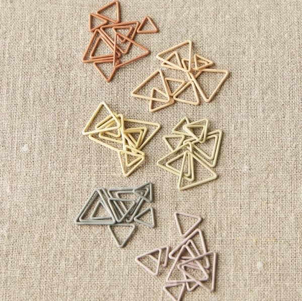 Cocoknits Triange Stitchmarkers Earth Tones