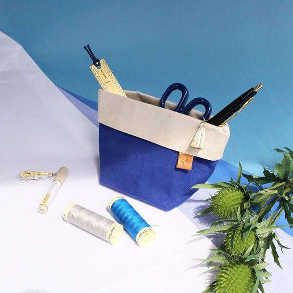 Cohana Canvas Etui Blau