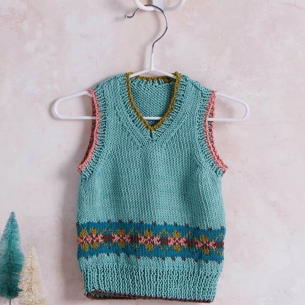 Erika Knight Baby Fairisle Vest
