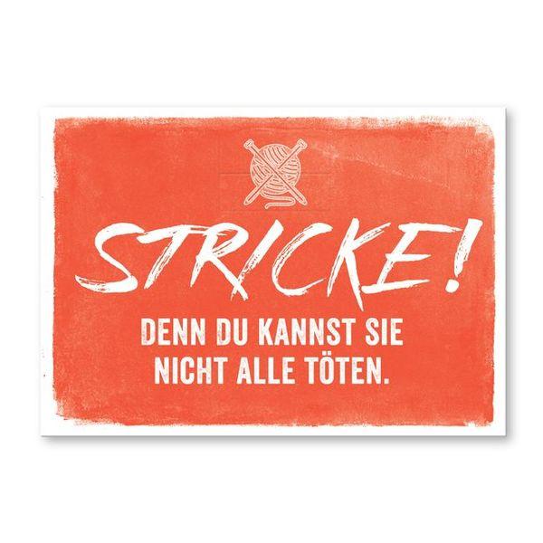 strickimicki Postkarte Nicht alle töten